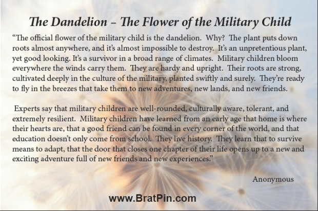 Official Flower of the Military Child